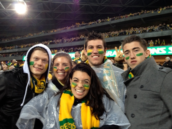 Me and my aussie crew after the Socceroos won the World Cup qualifier!